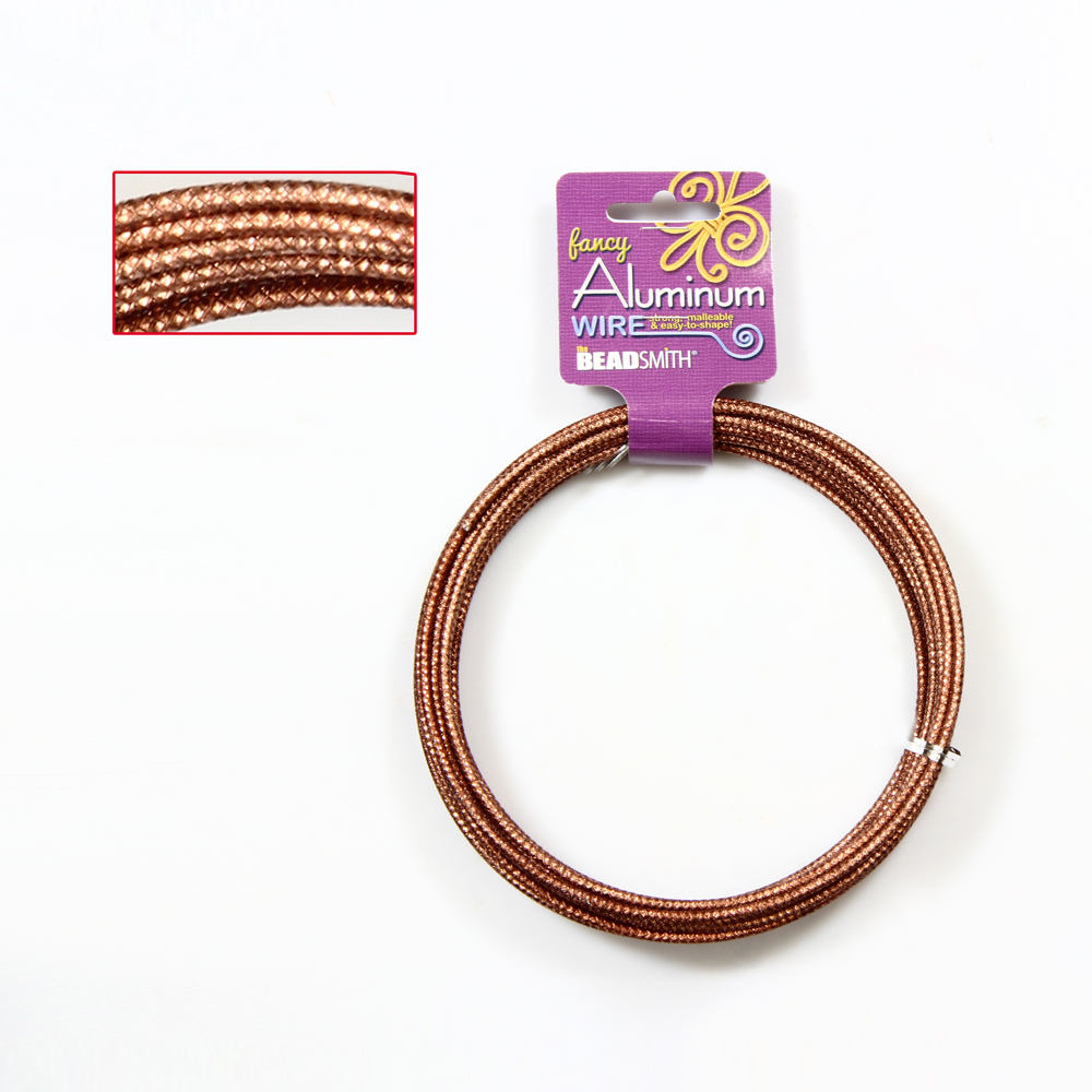BeadSmith® Embossed Fancy Aluminum Jewelry Craft Wire * Many Colors ...