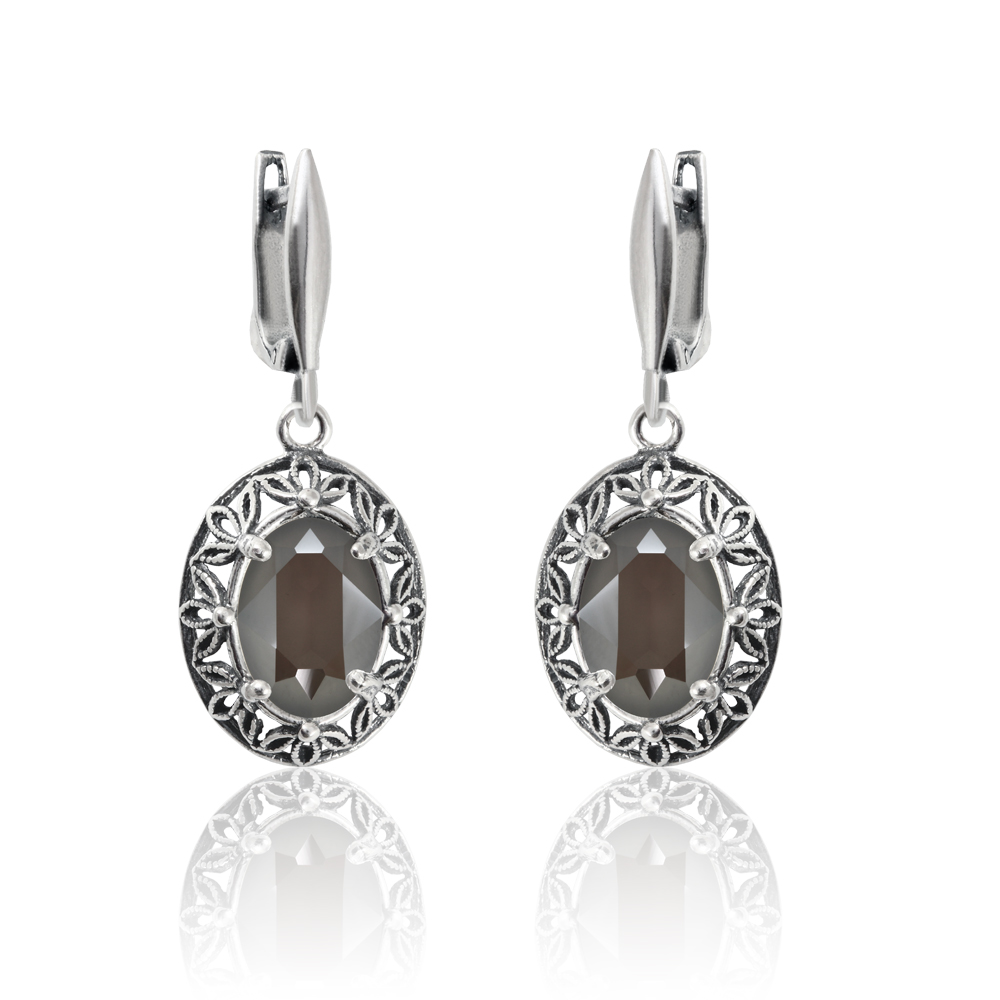 sterling amper at products stone amber oval shape earrings anny gabriella silver in buy