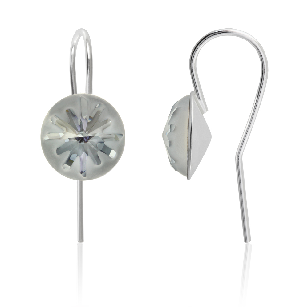 Sterling Silver Earrings Wire Hooks made with 1695 10mm Swarovski ...