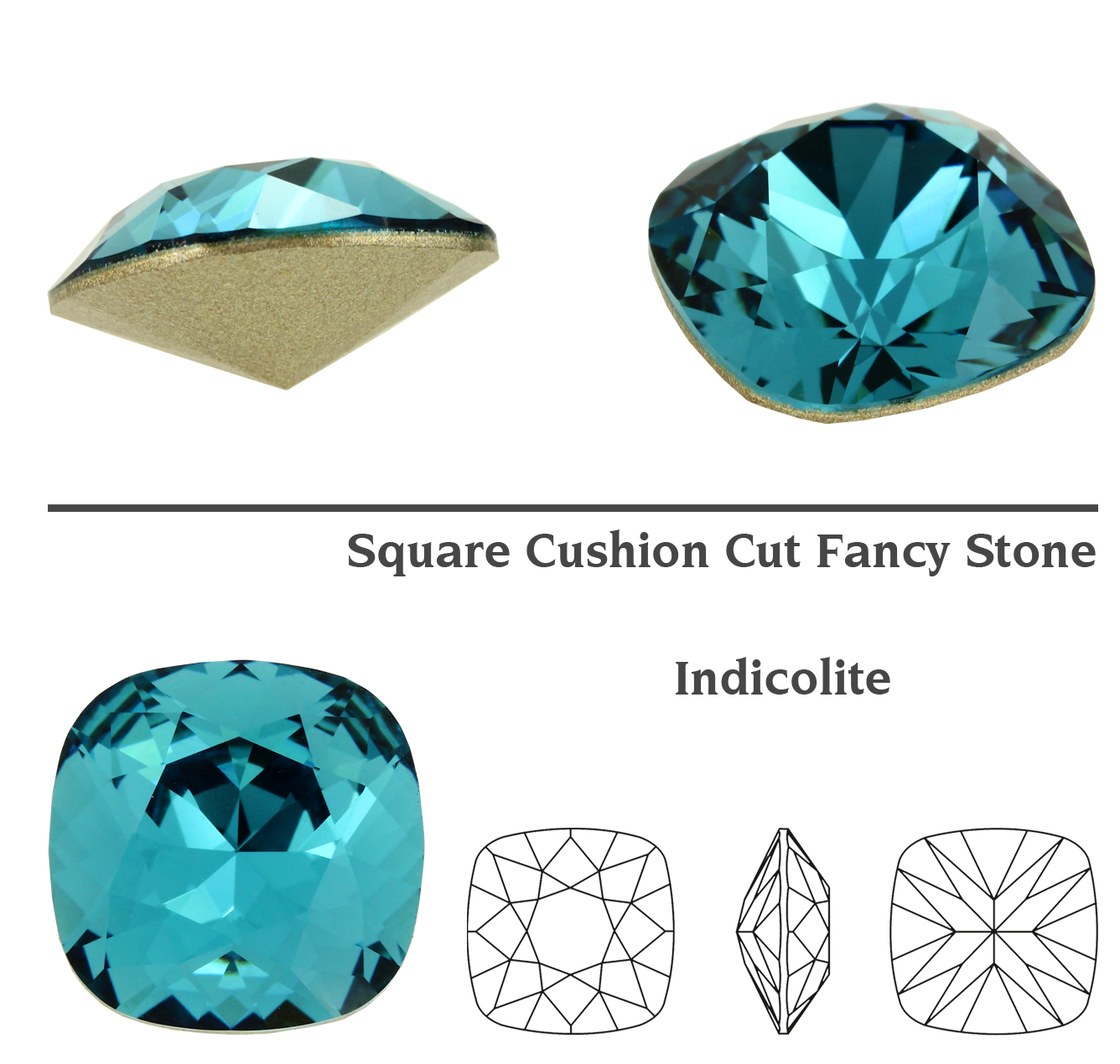 34371704dff7e Details about Genuine SWAROVSKI 4470 Square Cushion Cut Stones Crystals *  Many Colors & Sizes