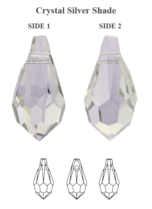 Genuine-SWAROVSKI-6000-Teardrop-Crystals-Pendants-Many-Sizes-amp-Colors