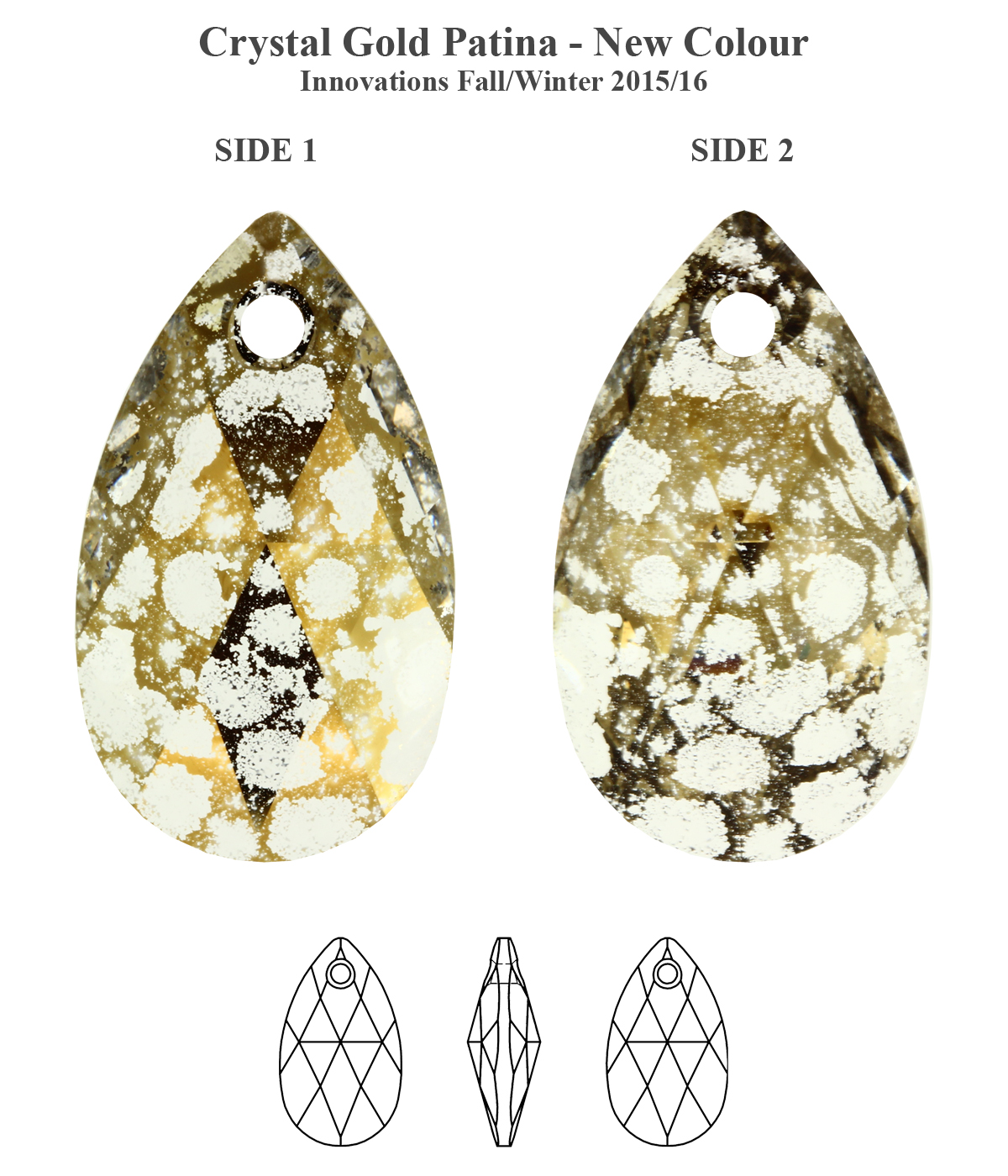 187aa5b8d Genuine Swarovski 6106 PEAR Shape Crystal Teardrop Pendants * All ...