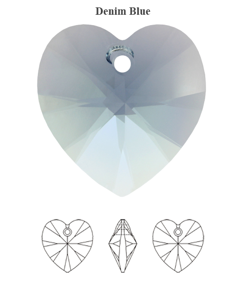 Genuine-SWAROVSKI-6228-XILION-Heart-Crystals-Pendants-Many-Colors-amp-Sizes