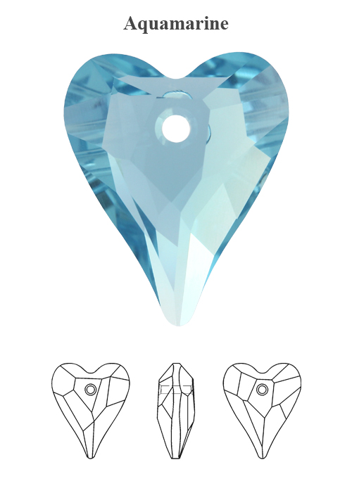 Genuine-SWAROVSKI-6240-Wild-Heart-Crystals-Pendants-Many-Colors-amp-Sizes