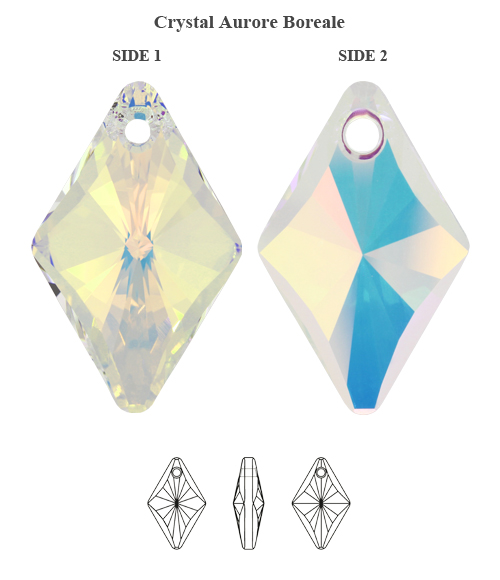 Genuine-SWAROVSKI-6320-Rhombus-Crystals-Pendants-Many-Sizes-amp-Colors