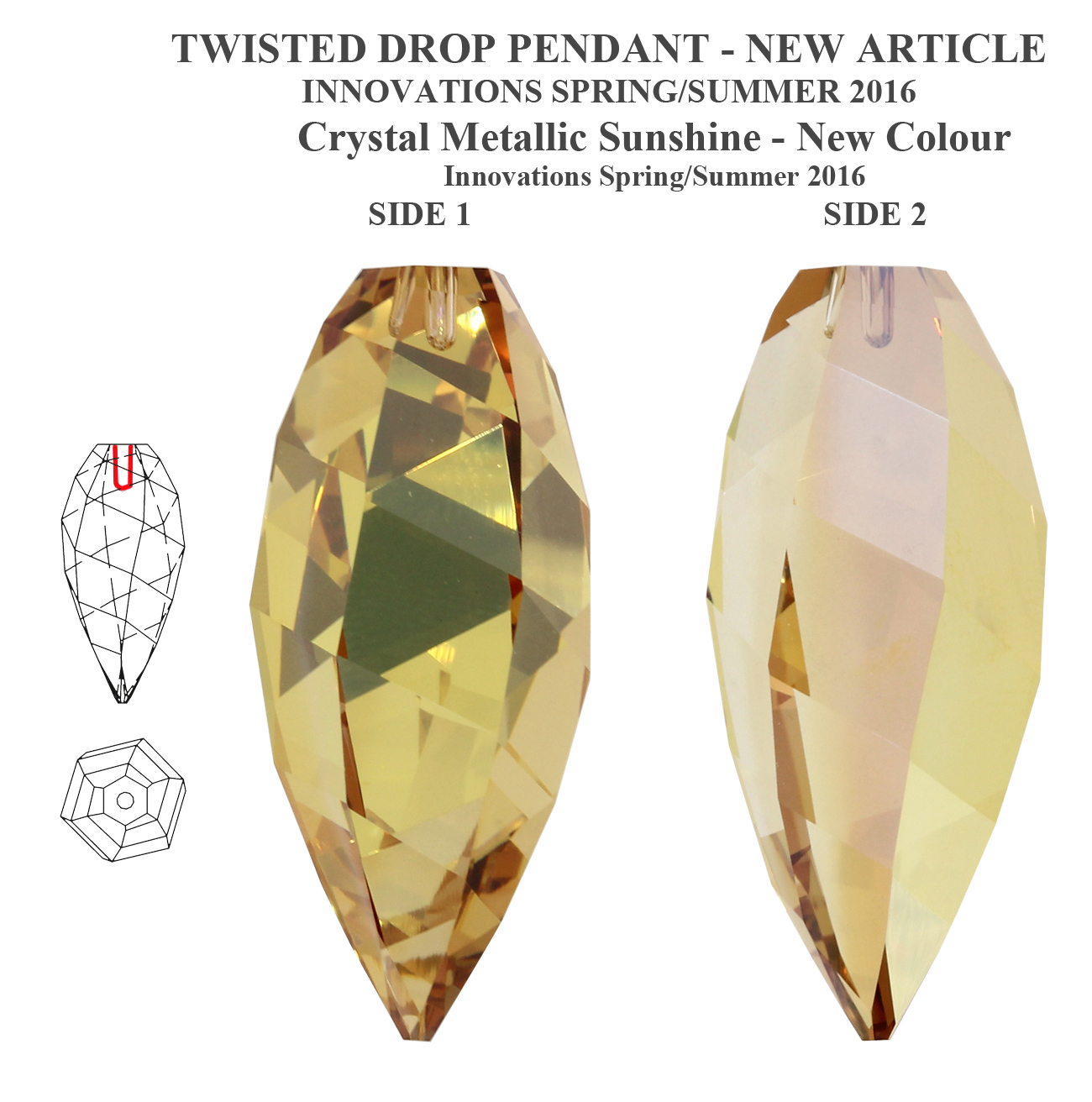 Genuine swarovski 6540 crystal twisted drop pendants many genuine swarovski 6540 crystal twisted drop pendants many aloadofball Choice Image